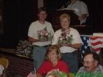 Mark Schuller and Barb Brown win door prizes