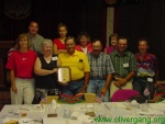 The Gamble family with Bill and Margaret after they received the FAmily of the Year award from the Oliver Gang.